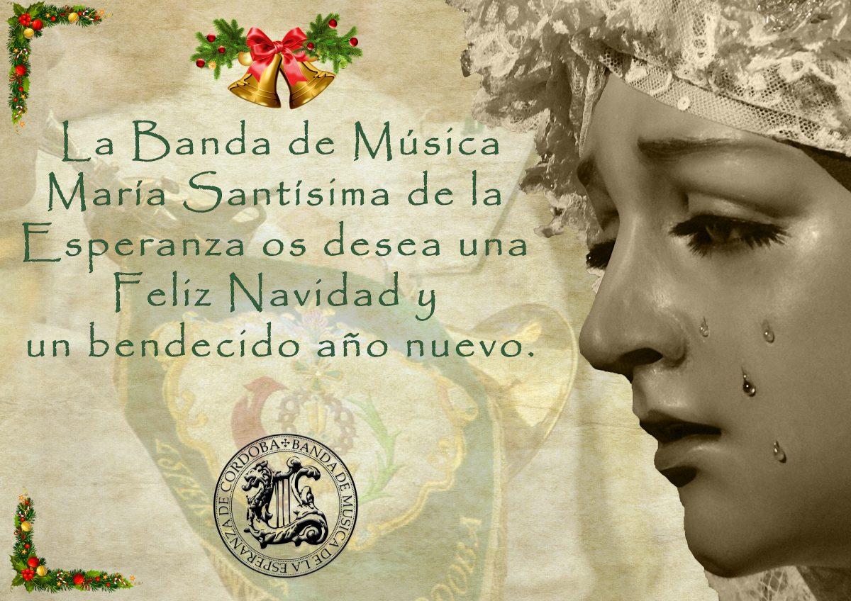 Felicitación Banda Esperanza con adornos